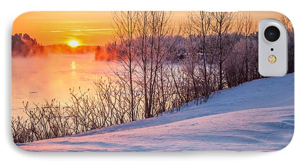 Taunton River Sunrise IPhone Case by Susan Cole Kelly