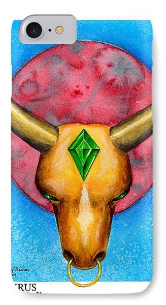 Taurus Phone Case by Michael Baum