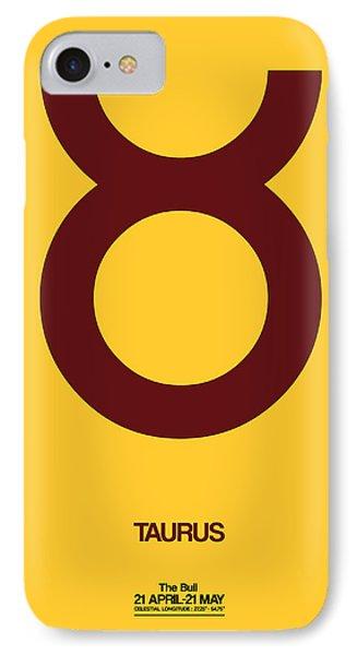 Taurus Zodiac Sign Brown IPhone Case