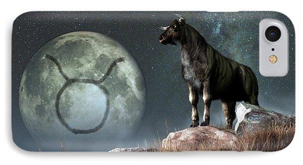 Taurus Zodiac Symbol IPhone Case by Daniel Eskridge