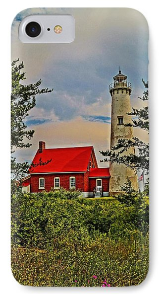 Tawas Point Light Retro Mode IPhone Case by Daniel Thompson