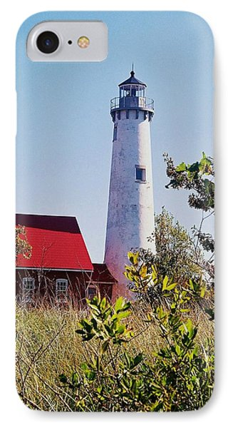 Tawas Point Lighthouse...from Tawas Bay Side IPhone Case by Daniel Thompson