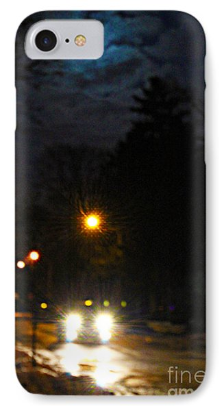 IPhone Case featuring the photograph Taxi In Full Moon by Nina Silver