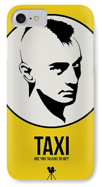 Taxi Poster 1 IPhone Case by Naxart Studio