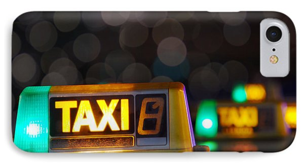 Taxi Signs IPhone Case by Carlos Caetano