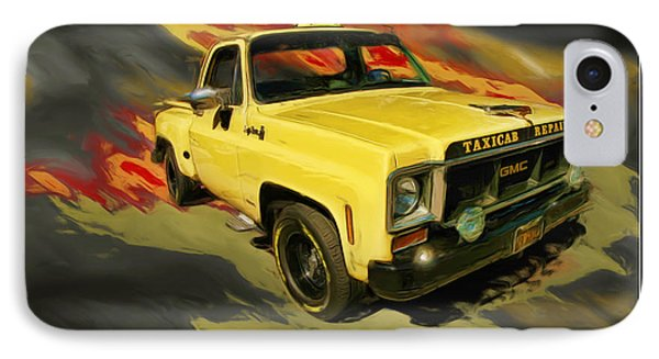 Taxicab Repair 1974 Gmc Phone Case by Blake Richards
