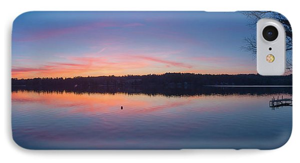 Taylor Pond With Dock At Sunset IPhone Case by Panoramic Images