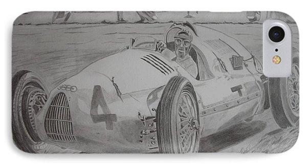 Tazio Nuvolari Phone Case by Jose Mendez