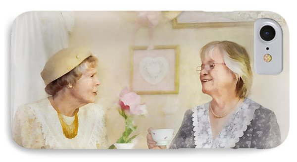 Tea And Talk IPhone Case by Francesa Miller
