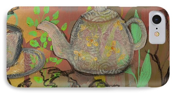 Tea Blossoms Phone Case by Robin Maria Pedrero