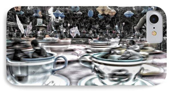 Tea Cup Ride Fantasyland Disneyland Sc IPhone Case by Thomas Woolworth