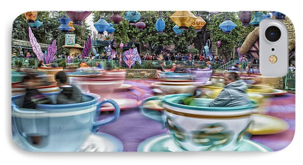 Tea Cup Ride Fantasyland Disneyland IPhone Case by Thomas Woolworth