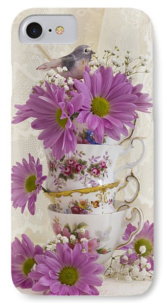 Tea Cups And Daisies  IPhone Case