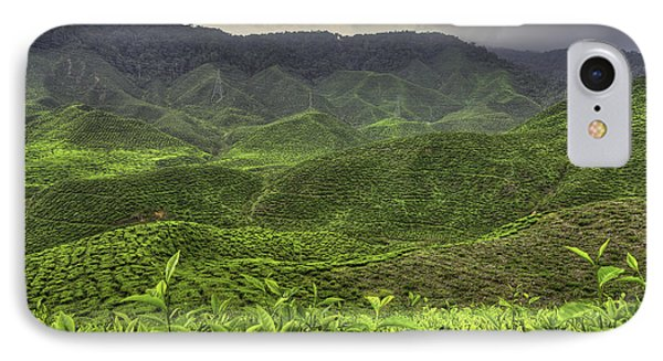 Tea Farm Phone Case by Mario Legaspi