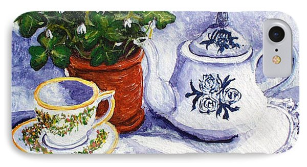 Tea For Nancy Phone Case by Barbara McDevitt
