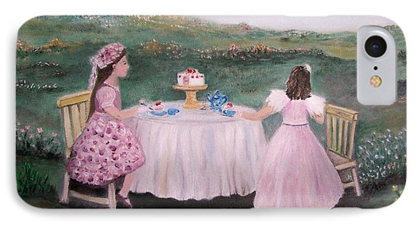 Tea For Two Phone Case by Rhonda Lee