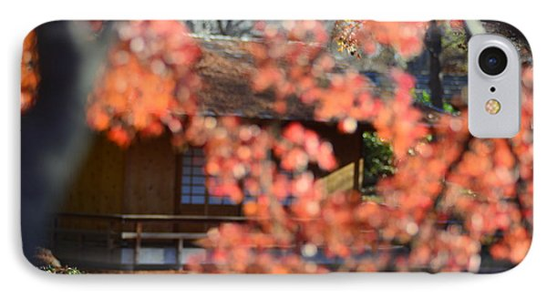 Tea House With Branch In The Foreground IPhone Case