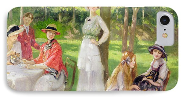 Tea In The Garden IPhone Case by Jules Cayron