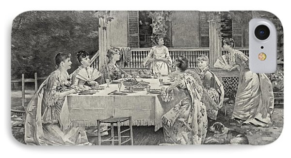 Tea Party 1887 IPhone Case by Padre Art