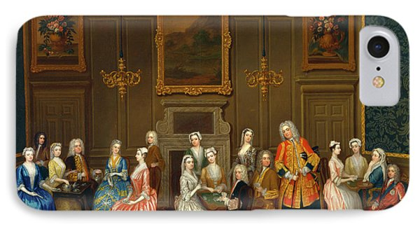 Tea Party At Lord Harringtons House IPhone Case by Litz Collection