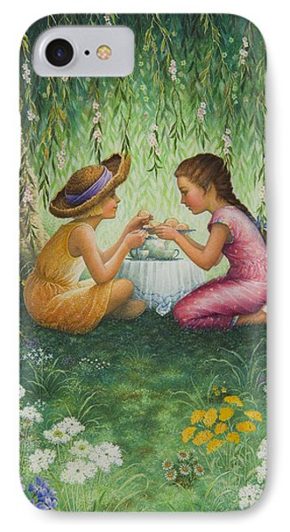 Tea Party Phone Case by Lynn Bywaters