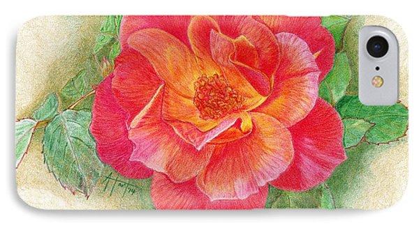 Tea Rose IPhone Case by Audrey Van Tassell