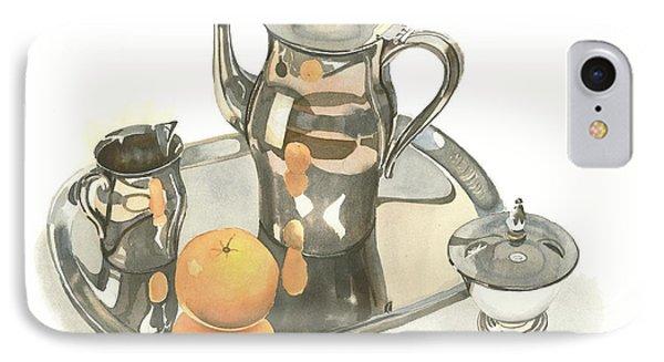 Tea Service With Orange IPhone Case