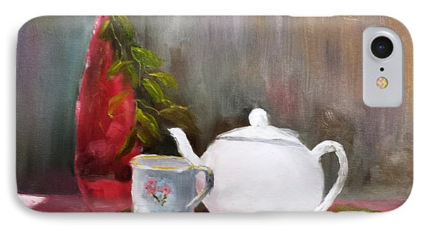 Tea Time - Still Life IPhone Case by Larry Hamilton