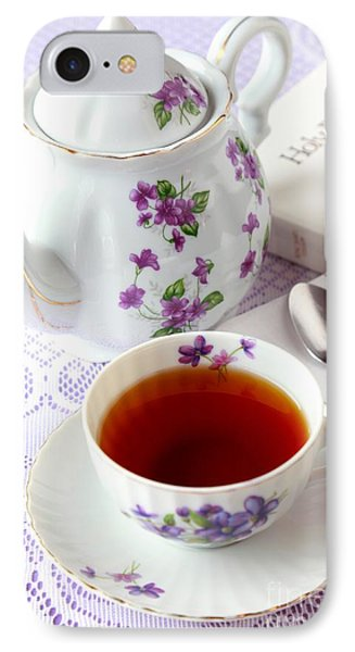 Tea Time With Bible IPhone Case by Pattie Calfy