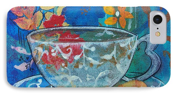 IPhone Case featuring the painting Tea With Biscuit by Robin Maria Pedrero