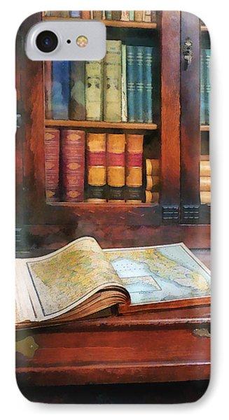 Teacher - Geography Book Phone Case by Susan Savad