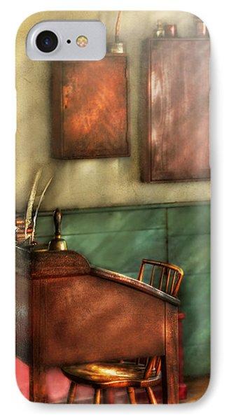 Teacher - The Teachers Desk Phone Case by Mike Savad
