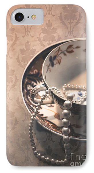 Teacup And Pearls Phone Case by Jan Bickerton