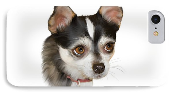 Teacup Chihuahua Phone Case by Angela A Stanton