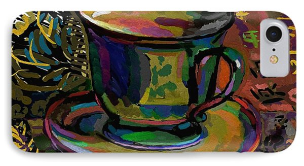 IPhone Case featuring the digital art Teacup Study 1 by Clyde Semler