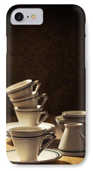 Teacups IPhone Case by Amanda Elwell