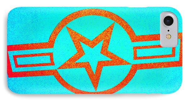 Teal And Rust Fighter Star Phone Case by Holly Blunkall