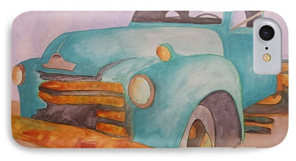 Teal Chevy IPhone Case by Isaac Alcantar