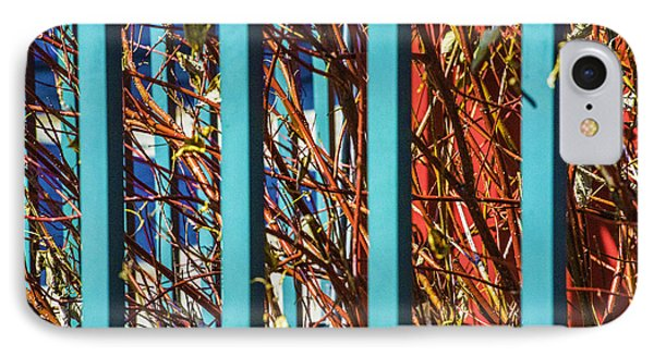 Teal Fence IPhone Case by Raymond Kunst
