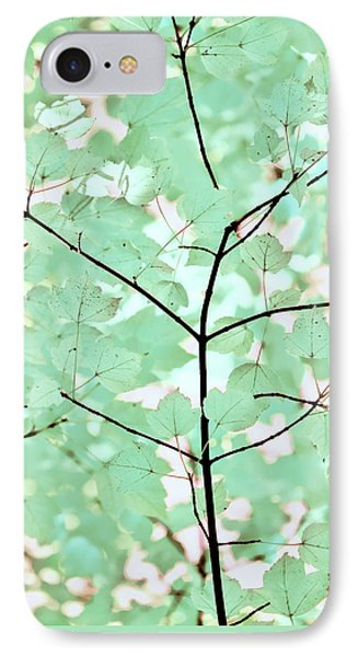 Teal Greens Leaves Melody Phone Case by Jennie Marie Schell