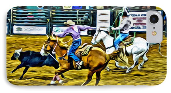 Team Ropers IPhone Case by Alice Gipson