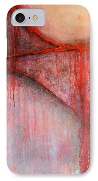 IPhone Case featuring the painting Tears Of War by Michelle Joseph-Long