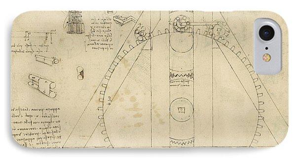 Teaseling Machine From Atlantic Codex Phone Case by Leonardo Da Vinci