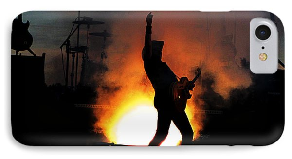Ted Nugent On Fire IPhone Case