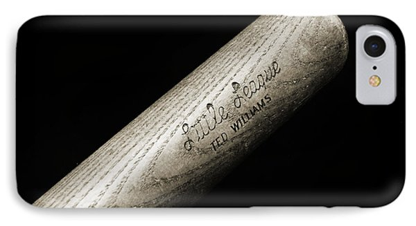 Ted Williams Little League Baseball Bat Bw Phone Case by Andee Design
