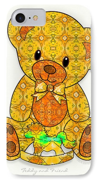 Teddy And Friend Phone Case by Gayle Odsather