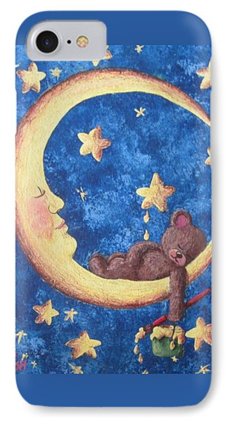 Teddy Bear Dreams IPhone Case by Megan Walsh