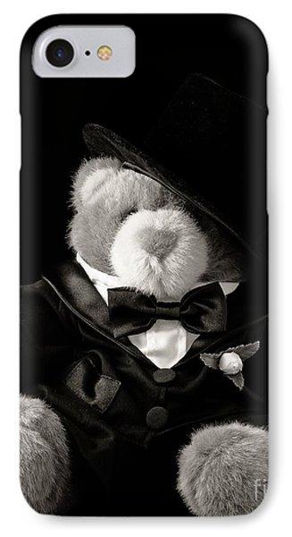 Teddy Bear Groom IPhone Case by Edward Fielding