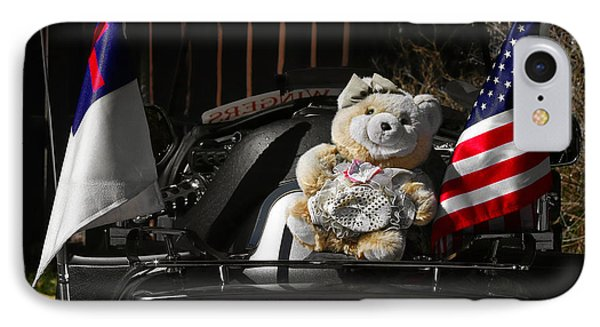 Teddy Bear Ridin' On IPhone Case by Christine Till
