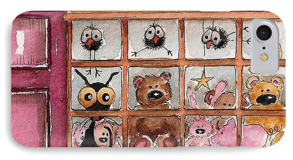 Teddy Bear Shop Phone Case by Lucia Stewart